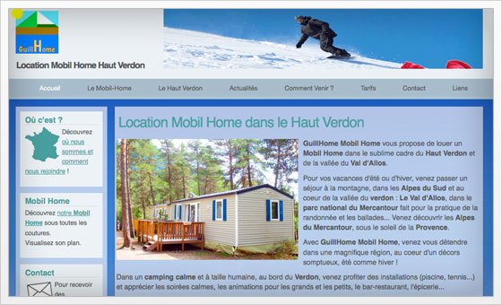 GuillHome location mobil home haut verdon